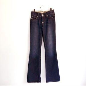 NWOT Paige Denim Dark Wash Wide-Leg Flare Jeans